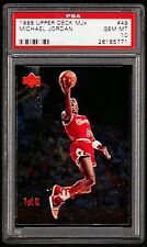 1998 UPPER DECK MJx #49 MICHAEL JORDAN *PSA GEM MINT 10  *POP=5. SLAM DUNK!