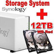 12TB (2x6TB) WD Red Synology Disk Station DS216j Netzwerkspeicher Gigabit NAS