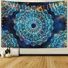 Trippy Mandala Tapestry Wall Hanging Psychedelic Tapestry Art Home Decor US Ship