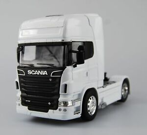 WELLY SCANIA V8 R730 WHITE 1:32 SUPER HAULIER MODELS DIE CAST MODEL NEW IN BOX