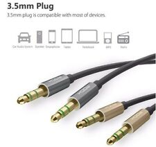 Rock  Male to male Auxilary  audio extension cable 1.m For phones  car stereos