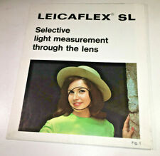 Leica Leicaflex SL Guide to Selective Light Measurement - classic & rare, 1960s