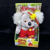 "ERTL Blinky Bill Grey Koala Plush One Shoulder Overall 11"" Rare New In Box"