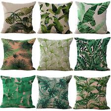 Grün-Blätter-Baumwollleinen-Kissen-Kasten-Kissen-Abdeckungs- Ausgangsdekoration