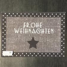 € 53,96/qm / Fußmatte Frohe Weihnachten D.917 Grau Taupe Schrift / 40 cm*60 cm