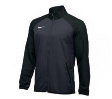 New Nike Men's L Woven Running Full Zip Training Jacket Team Grey Black $65