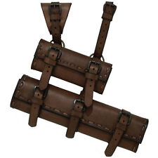 Leather Dual LARP Sword Hanger Frog, Brown, Pirate, Medieval, Cosplay, Garb, SCA