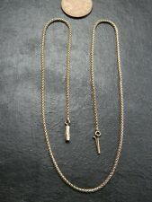 RARE ANTIQUE VICTORIAN 9ct GOLD SNAKE LINK NECKLACE C.1880 16 inch
