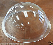 "USA ** Acrylic Dome / Plastic Hemisphere - Clear - 12"" Diameter with 1"" Flange"