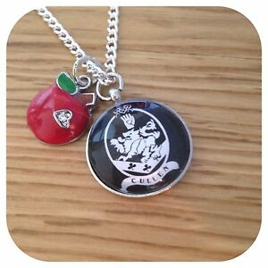Twilight family MINI crest & apple pendant necklace