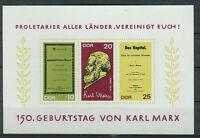 DDR Briefmarken 1968 Karl Marx  Mi.Nr. 1365 bis 1367 Block postfrisch