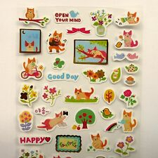 6 Sheets of Cute Cat Themed Stickers