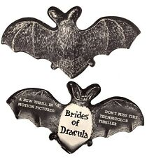 """Paper Bat Advertising for the 1960 Film """"Brides of Dracula"""""""