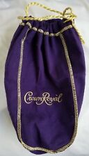 Crown Royal Canadian Whiskey Purple Felt Bag Gold Rope Trim 1.75L Rare New