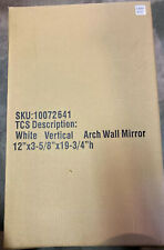 New listing white vertical arch wall Mirror 12x19 10072641