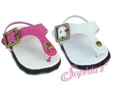 """Thong Sandal in White Patent for 18"""" Dolls Shoes flip flop sandals"""