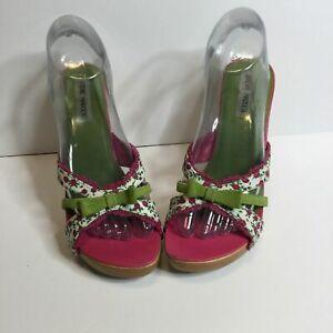 Vintage Steve Madden Luck Floral Heels