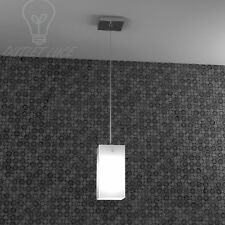 lampadario lampada sospensione barra calata cromo moderno cucina bancone vetro