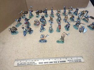 32 Conte Vikings Normans Hand Painted Play set Soldier Castle Army 1/32 54mm