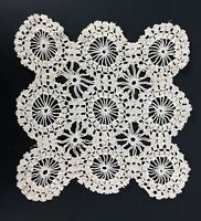 "Fabulous Vintage Crochet Lace Doily 9"" Intricate Cottage Victorian Style"