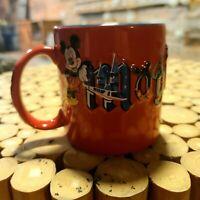 RED JUMBO WALT DISNEY WORLD MAGIC KINGDOM EMBOSSED 3D COFFEE MUG Mickey Mouse