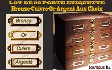 Lot  20 Porte etiquette   60x17  Casier Tiroir Meuble de Metier Poignée Ancien
