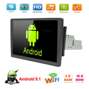 Single 1DIN Android 9.1 Car Stereo MP5 Player Radio GPS Navi Wifi Head Unit