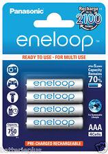 4 pièces Panasonic eneloop ACCUS Micro AAA/1,2V / min. 800mAh BK-4MCCE/4BE