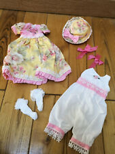 """Effner 13"""" Little Darling """"all about roses"""" Ensemble by Ladybugs doll design"""
