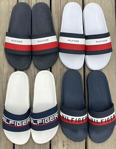 Tommy Hilfiger Men's Classic Logo Slipper Slide Sandals 8 9 10 11 12 New