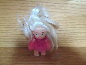 Vintage Dressed Pee Wee Doll 3.5 inches Tall White Hair PeeWee