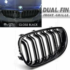 Shin Black Dual Fin Kidney Front Grille for BMW 5 SERIES E60 2003-2009 Free Clip