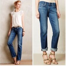 AG ADRIANO GOLDSCHMIED Womens 25x33 Blue The Tomboy Relaxed Straight Jeans