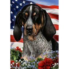 Patriotic (1) House Flag - Bluetick Coonhound 16193