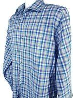 Peter Millar Dress Shirt Mens XL Button Up Cotton Plaid