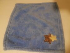 Baby Gear Blue Lovey Security Square Blanket Brown Stars 15x15