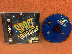 Space Invaders Sony PlayStation 1 PS1 PSOne Black Label Complete!
