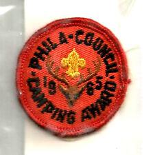 !EARLY 1965 CAMP TREASURE ISLAND Award- Philadelphia Council PA Boy Scout #827