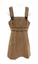 Aritzia TALULA Womens Brown Wool Blend Tweed Mini Jumper Tank Top Dress 6 M