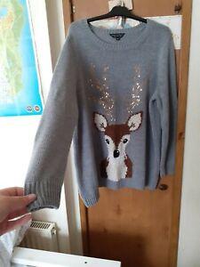 Deer Christmas Jumper size 26 Dorothy perkins