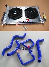 Aluminum radiator & shroud & fan & silicone hose for Ford Falcon BA BF XR6 Turbo