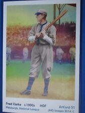 Fred Clarke, Pittsburgh, ArtCard #51 - Baseball card of HOF player c.1900's