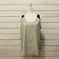 The Limited Womens Size XL Sleeveless Pattern / Solid Blouse