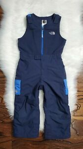The North Face Toddler 4T Blue Insulated Kids One Piece Snow Bib Fleece Suit