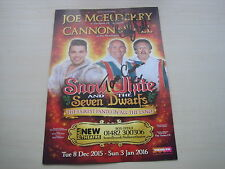 Cannon & Ball (2015/16 Hull Panto Flyer) hand signed RARE **FREE POST**