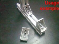 Aluminum T-slot profile 90 deg corner bracket 30x30-8mm + screws + T-nuts, 8-set