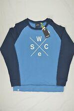 NEW MEN'S WeSC BLUE HOOVER CREWNECK SWEATSHIRT SZ XL $98 #83-35045