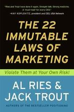 The 22 Immutable Laws of Marketing:  Violate Them at Your Own Risk! Ries, Al, T