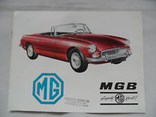 Prospekt brochure MG MGB SR918