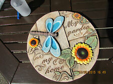 """EXTRA THICK LATEX MOULD OF A GARDEN PLAQUE """"MY GARDEN, MY HOME"""""""